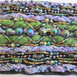 Fiber and Bead Bracelet by Khatuna Zarandia-algar - Close Up