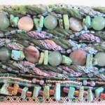 Fiber and Bead Jewelry Close Up by Khatuna Zarandia-algar
