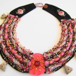 Fiber and Bead Necklace by Khatuna Zarandia-algar 5