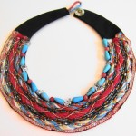 Fiber and Bead Necklace by Khatuna Zarandia-algar