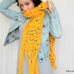 Flower Crochet Scarf by Maya