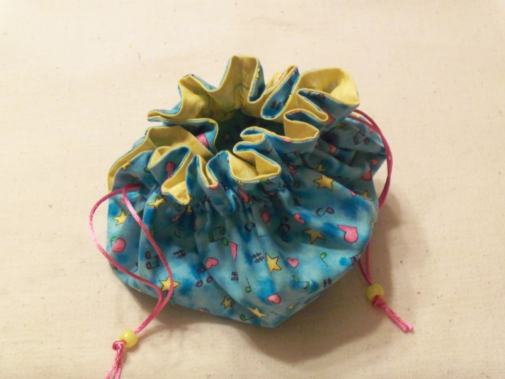 Handmade Jewelry Pouch by Sue Moore - Blue