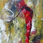 Hunger Two Painting by Peter Nyanjui Mburu