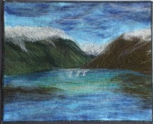 Lake Rotoiti Textile Art by Catherine Lawes