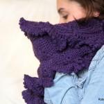 Purple Crochet Cowl by Maya