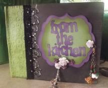 Mini Recipe Scrapbook Album by Alison Harris