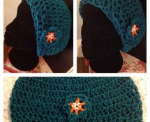 Teal Crocheted Beanie by Vicky's Handcrafted Designs