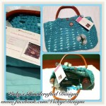 Teal Crocheted Handbag by Vicky's Handcrafted Designs