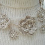 Crochet Flower Necklace by Maria Stechschulte