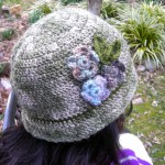 Floral Women's Cloche Hat by Maria Stechschulte