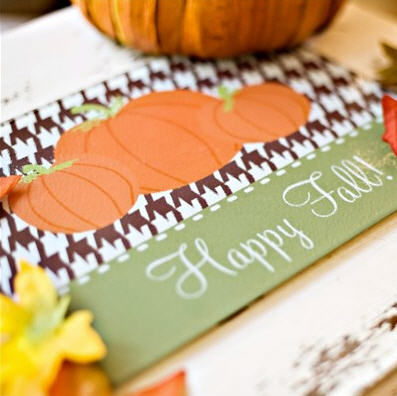 Personalized Cutting Board Fall Harvest