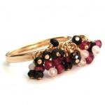 Cluster 14K Gold Filled Gemstone Ring by Rita Sunderland