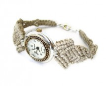 Macrame Geneva Watch by Rita Sunderland