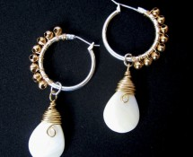 Mother of Pearl Earrings by Hortensia Gibbs