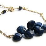 Solid 14K Gold Lapis Lazuli Bracelet by Rita Sunderland