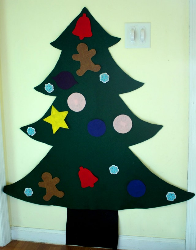 Felt Christmas Tree Pattern.Creative Kids Giant Felt Christmas Tree Tutorial Cotton