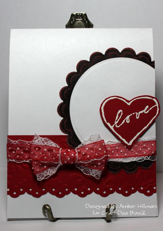 Valentine Card Craft dee bow