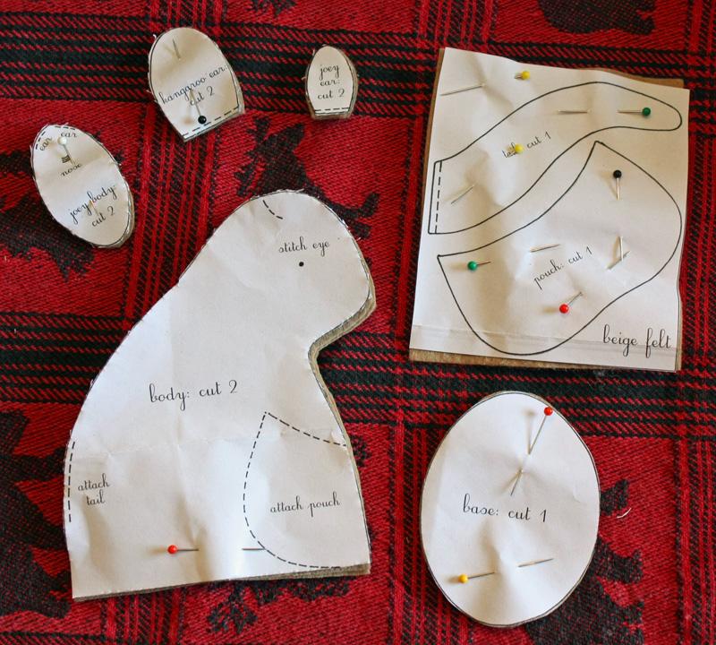 Kangaroo Patterns Cut Out