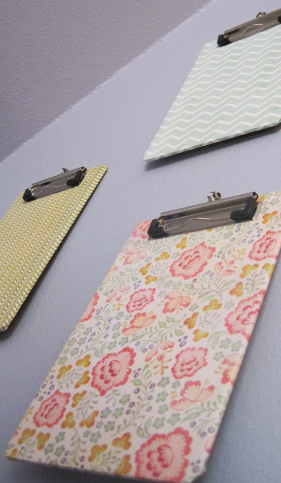 Colorful Hanging Clipboards by Chelseys Distractions