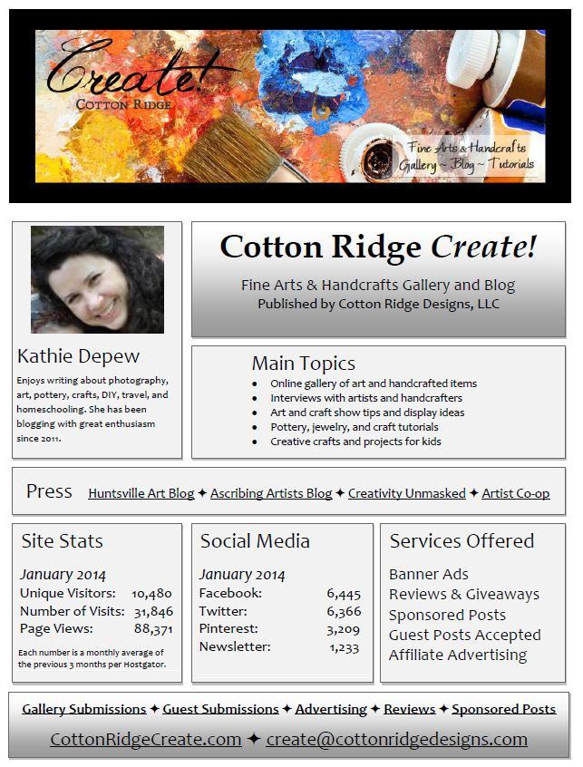 Cotton Ridge Create Media Kit January 2014