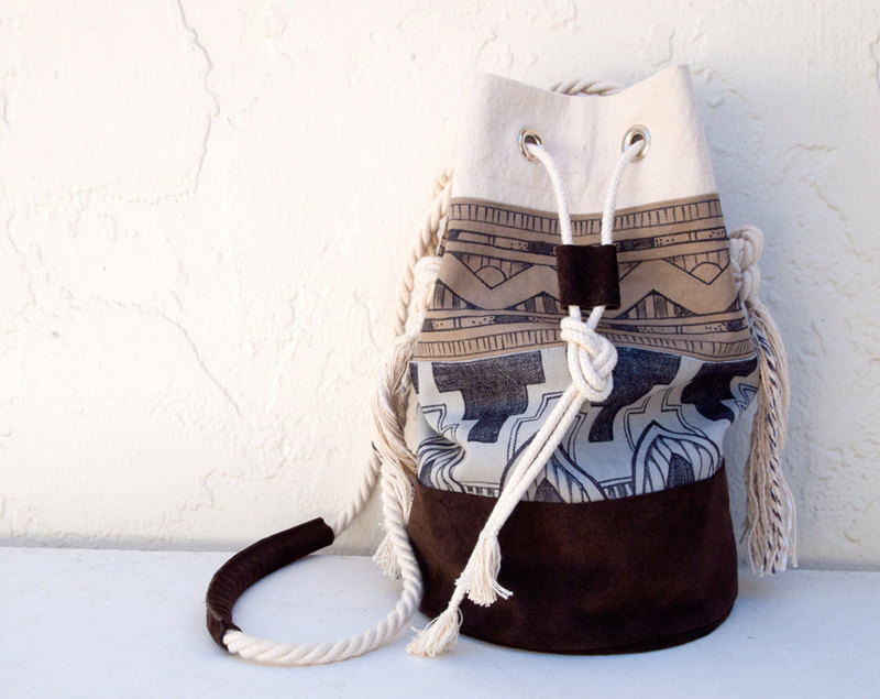Tribal Bucket Bag by Tasha Chapman