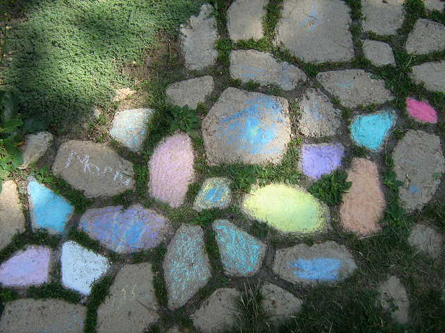 Colored Stepping Stones by oddharmonic on flickr