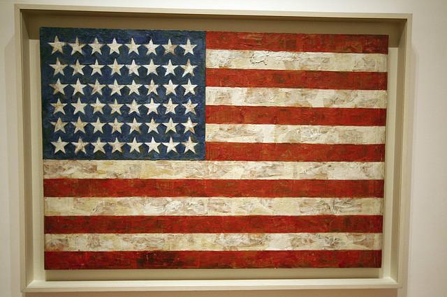 Flag by Jasper Johns by eschipul on flickr