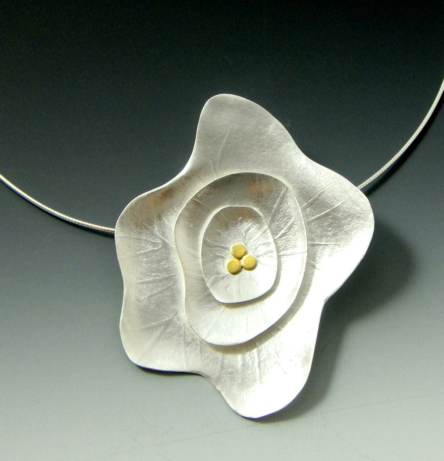 Flower Necklace by Francine Ruth