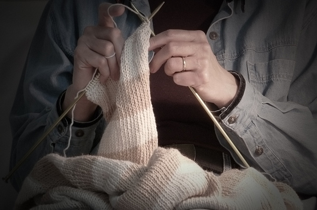 Knitting by Steven A Johnson on flickr