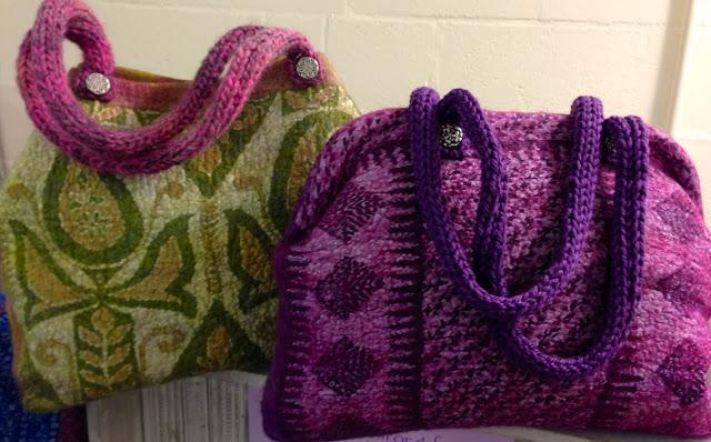 Sari Silk Felted Bags