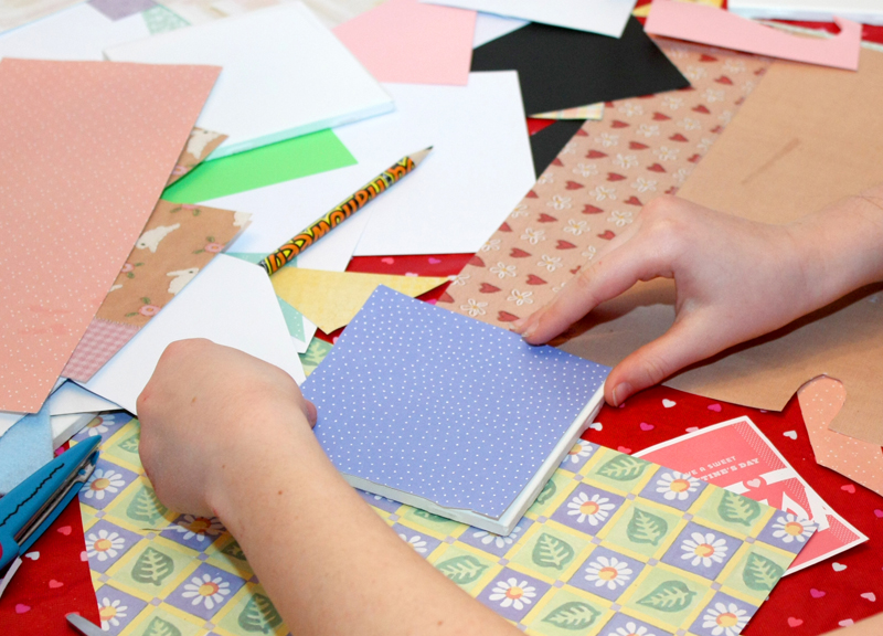 Valentines Party Making Tile Coasters 2
