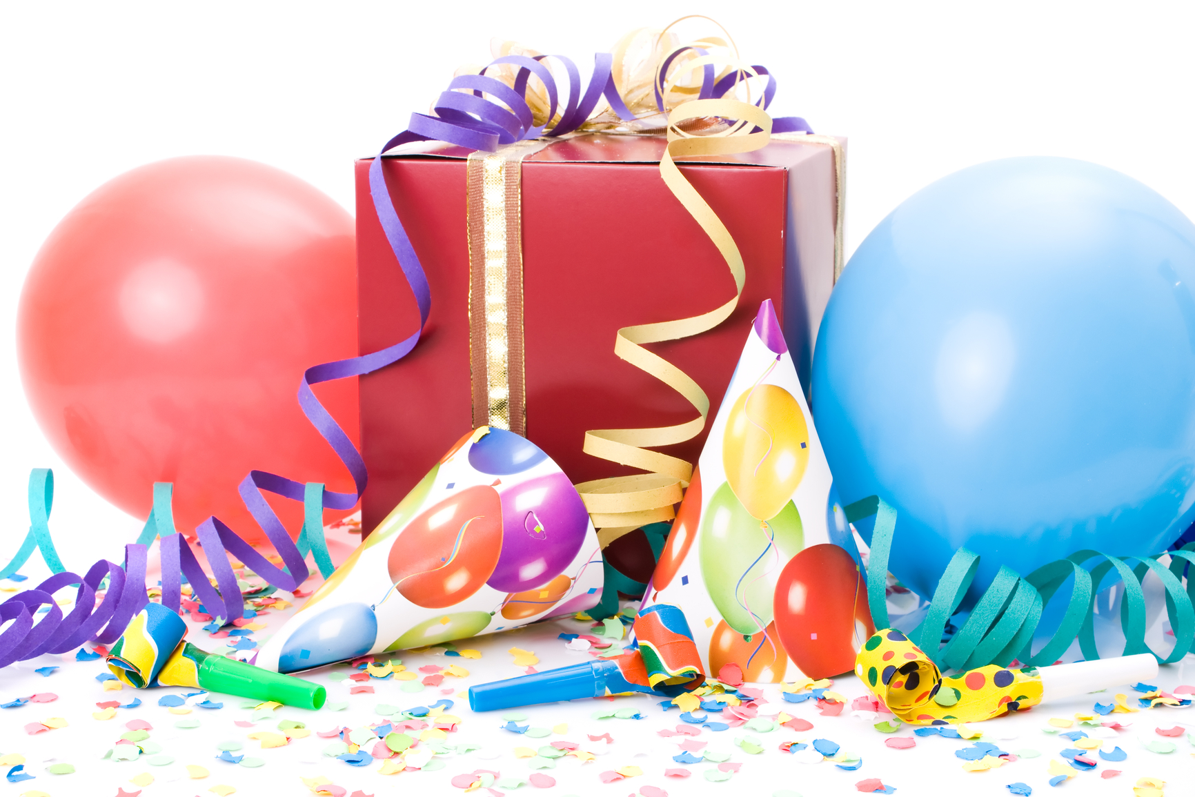 stockfresh_402672_gift-party-hats-horns-or-whistles-confettis-and-balloons-on-white-background_sizeM