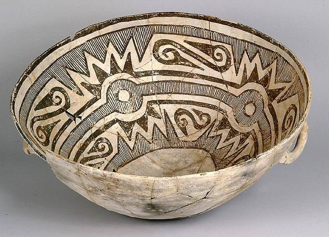 New Mexico Pottery from Wikipedia Bowl_Chaco_Culture_NM_USA