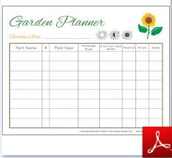 Eloquent image pertaining to printable garden planner