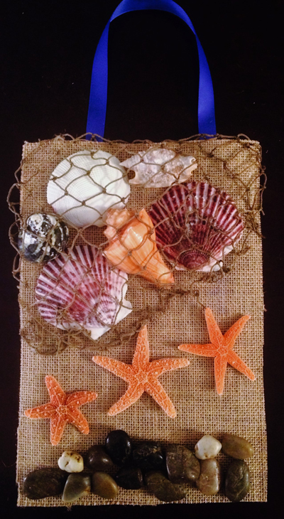 Sea Life Wall Art with Ribbon for Hanging