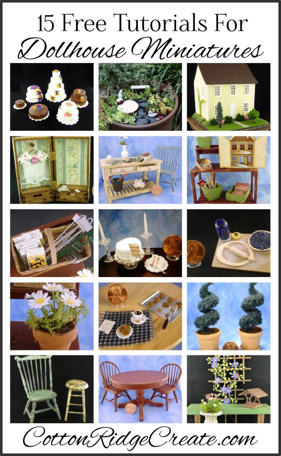 15 Dollhouse Miniatures Tutorials