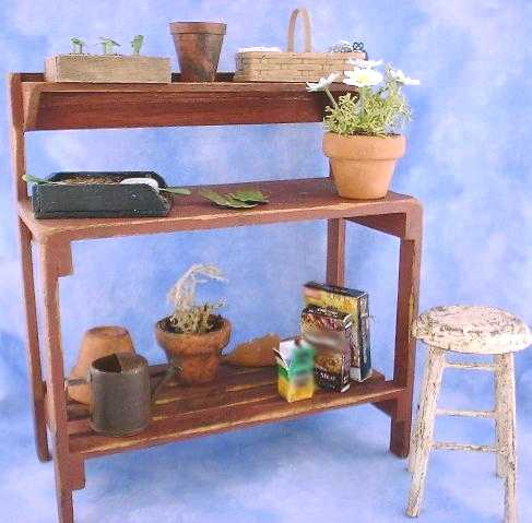 Miniature Garden Potting Bench Accessories Tutorial